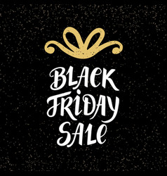 black friday sale banner with hand lettering vector image