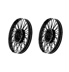 black spoke wheel vector image