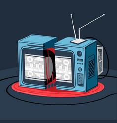 Broken television horror style vector