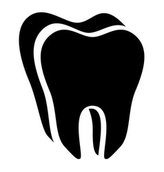 Canine tooth icon simple style vector
