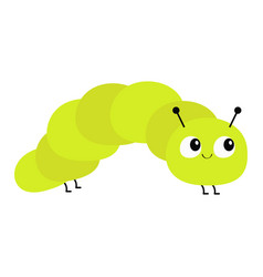 Caterpillar insect icon baby collection crawling vector