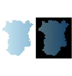 Chechnya map hexagon mosaic vector