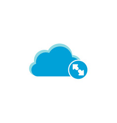 Cloud computing icon enlarge icon vector