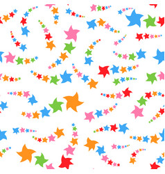 Colorful seamless pattern of cute stars on a vector