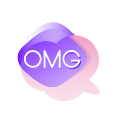 Colorful transparent speech bubble with acronyms vector