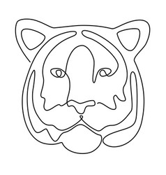 continuous line drawing tiger head vector image