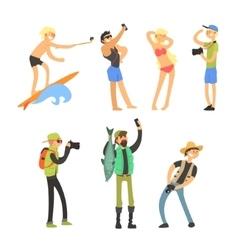 Creative People Taking Photos vector