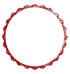 distressed textured certificate rosette circular vector image