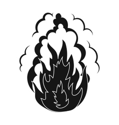 Explosion icon in black style isolated on white vector image
