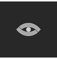 Eye logo monogram creative design mockup Black vector