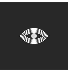 Eye logo monogram creative design mockup black vector