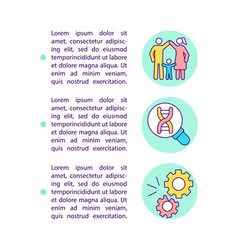 family history genetic conditions concept line vector image