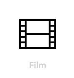 film icon editable outline vector image
