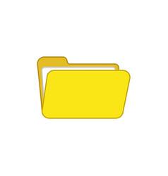 flat design style open folder icon on white vector image