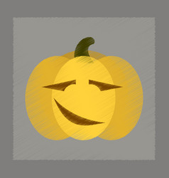 Flat shading style icon halloween pumpkin vector