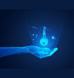 futuristic hand vector image