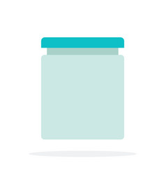 glass bank with sour cream vector image