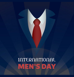 global men day concept background cartoon style vector image