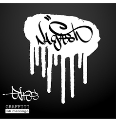 Graffiti ink frame vector