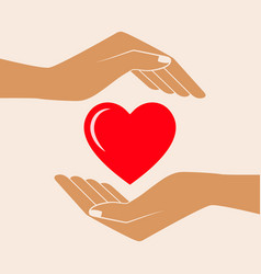 hands giving love symbol vector image