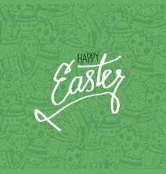 Happy easter eggs pattern monochrome holiday vector