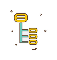 hierarchy icon design vector image