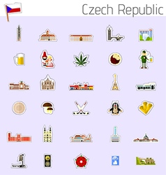 Icons of Czech Republic vector