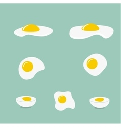 Icons with a fried egg vector image