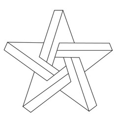 impossible star vector image