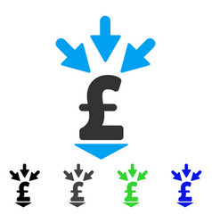 Integrate pound payment flat icon vector