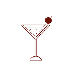 Isolated martini glass drink line style icon vector