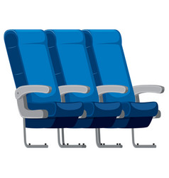 isolated set of airplane seat vector image