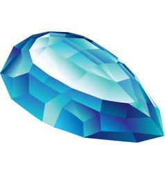 Isolated shiny aquamarine vector