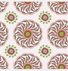 Iznik tile pattern vector