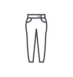jeans line icon sign on vector image