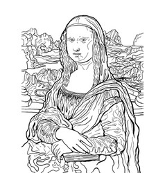 Leonardo da vincis painting mona lisa black and vector
