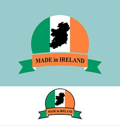 Made in ireland logo for product map of ireland vector