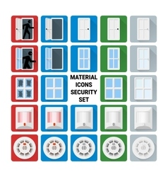 Material icons security set 1 vector image