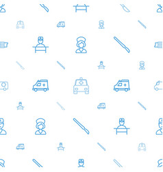 Medic icons pattern seamless white background vector