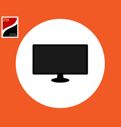 monitor icon for computer vector image