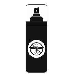 Mosquito spray black simple icon vector image