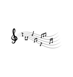 music notes graphic design template vector image