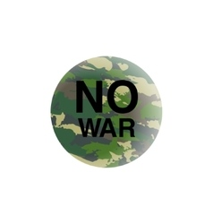 No war concept anti-terrorism placardearth vector