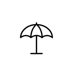 parasol umbrella icon thin line black vector image