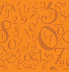 pattern of modern hand written numerals vector image