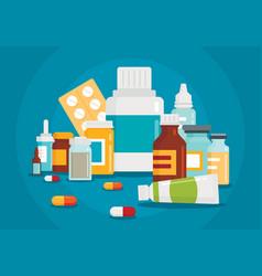 Pharmaceutical of medical bottles vector