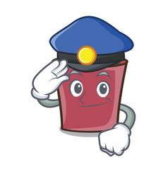 Police hot chocolate character cartoon vector