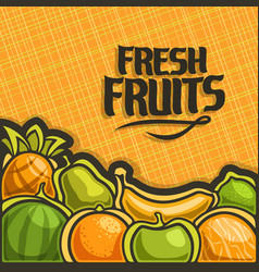 poster for set fresh fruits vector image