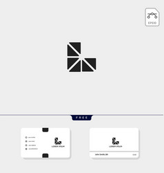 Premium initial geometric l logo template vector