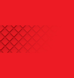 red geometric square background in paper art vector image